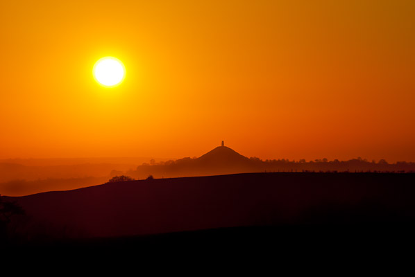 Sunseeking at Glastonbury Tor