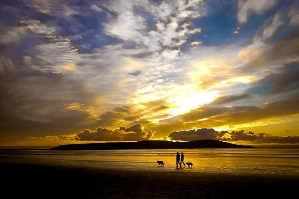 Sunset on Uphill Beach