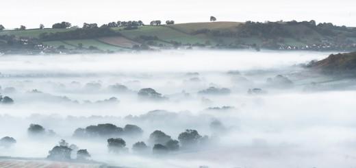Autumn Mist across the Axe Valley