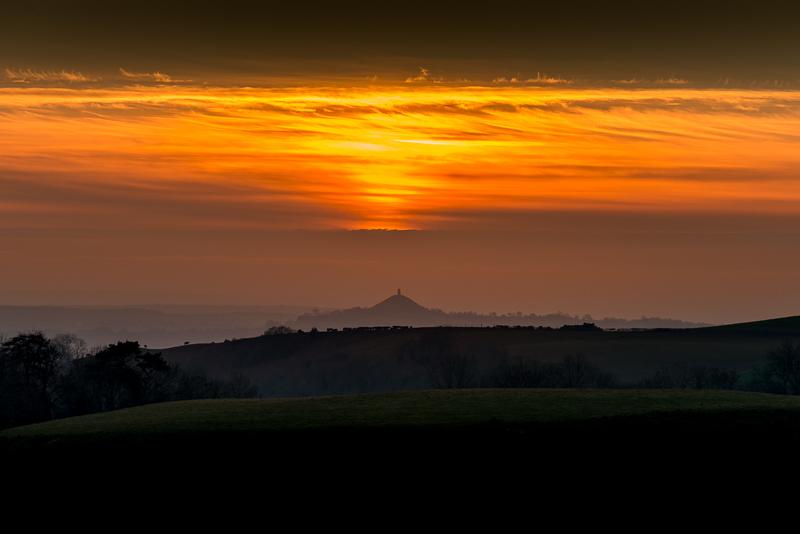 Glastonbury Tor at Sunset