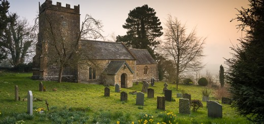 St Nicholas Church in Spring - Bratton Seymour, Somerset