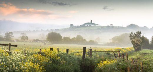 Glastonbury Tor in the morning mist