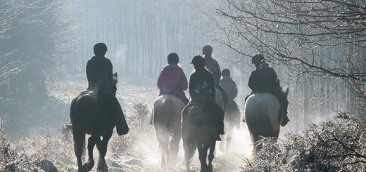 Riders in the Cold on the Mendip Hills