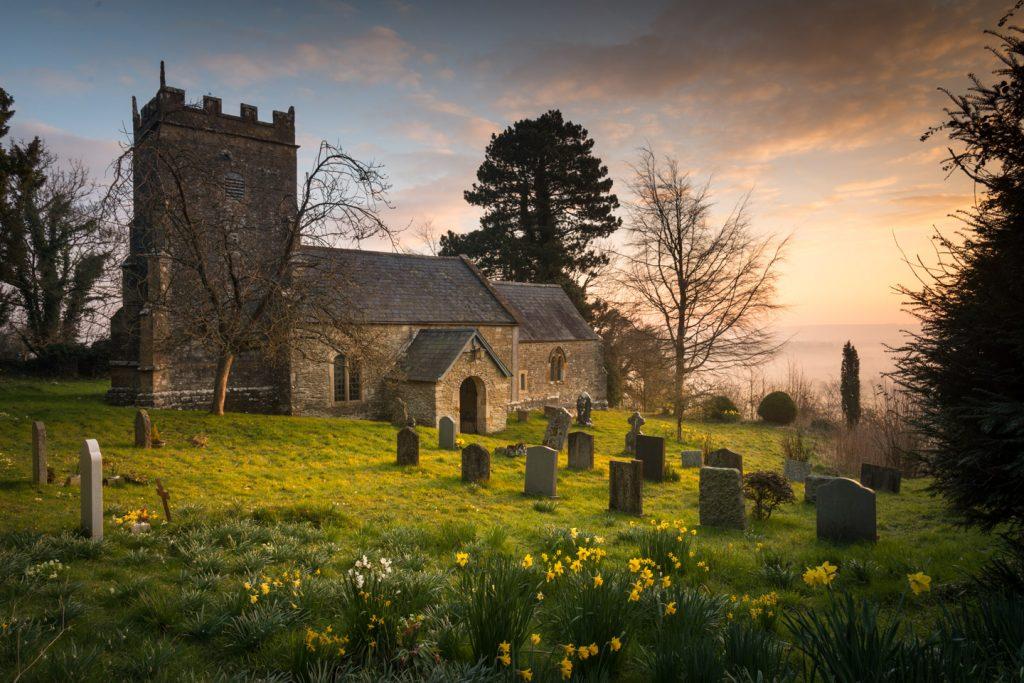 St Nicholas Church in Spring - Bratton Seymour, Somerset, England. ID 805_8378
