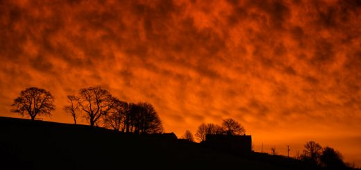 Sky on Fire - Shepton Mallet, Somerset, UK. ID 810_1296