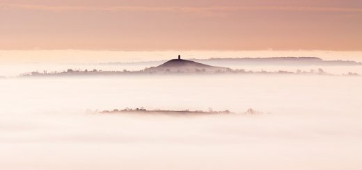 Glastonbury Tor through the mists of Avalon - Somerset, UK. ID JB3_9606