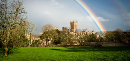 Wells Cathedral Rainbow - Somerset, UK. ID 800_0054