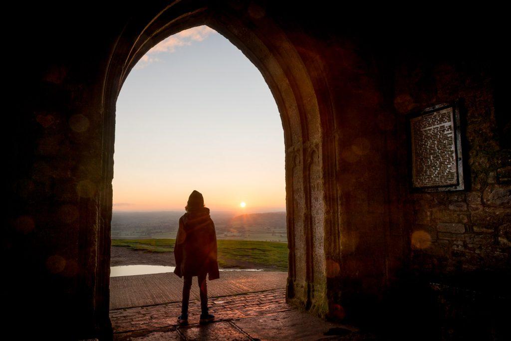 Watching the Sunrise - Glastonbury Tor, Somerset, UK. ID 823_3886