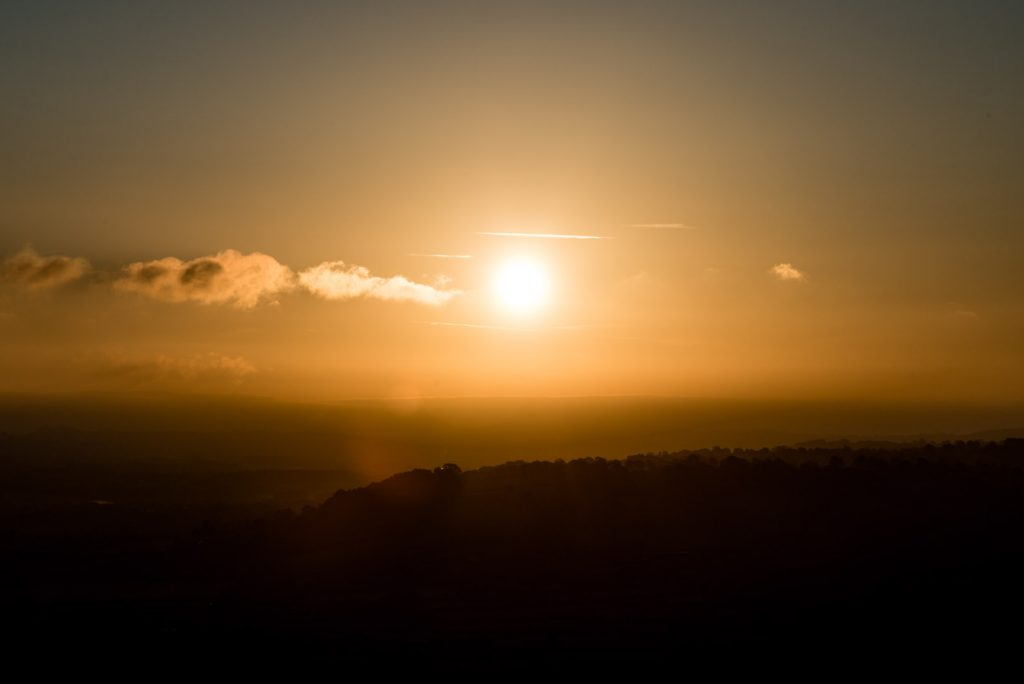 Sunrise from Glastonbury Tor - Somerset, UK. ID 823_3924
