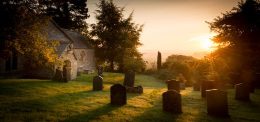 St Nicholas Church on an Autumn Dawn - Bratton Seymour, Somerset, England. ID 805_0128