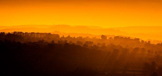 Sunrise from Glastonbury Tor - Somerset, UK. ID 823_4992