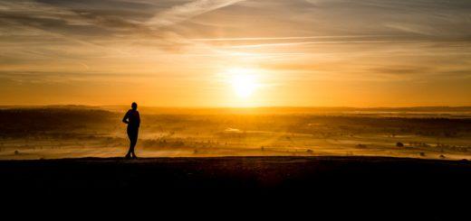 Watching the Sunrise on Glastonbury Tor - Somerset, UK. ID 823_6594