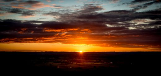 Sunrise - From Glastonbury Tor, Somerset, UK. ID 824_1250