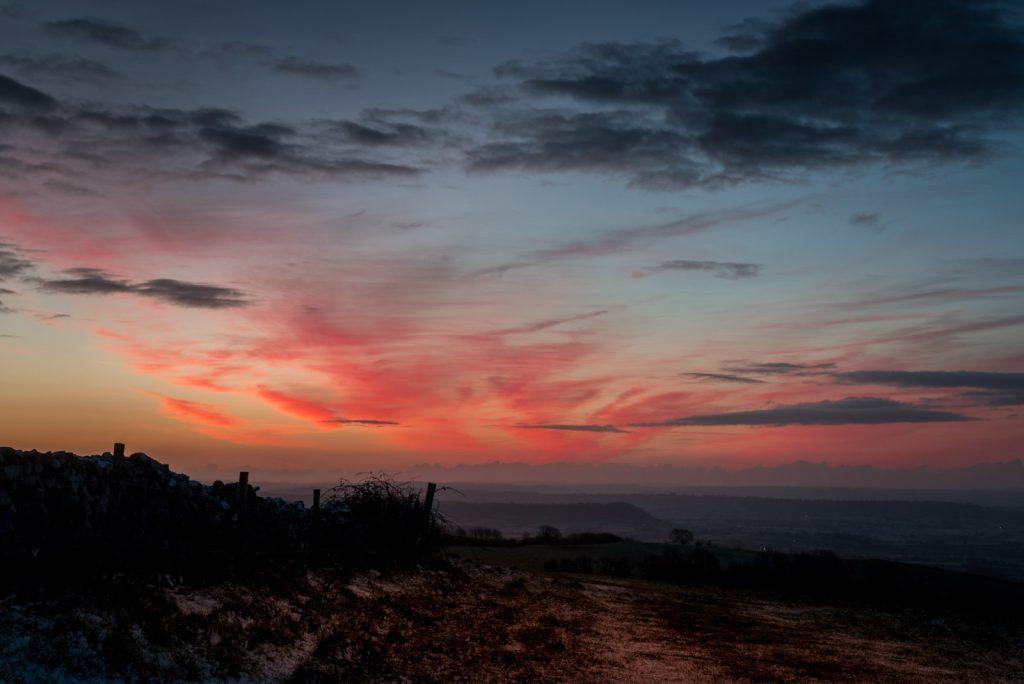 Sunrise at Cooks Fields - Mendip Hills, Somerset, UK. ID 824_1648