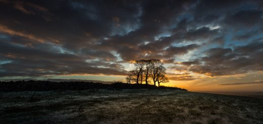Sunrise at Cooks Fields - Mendip Hills, Somerset, UK. ID 824_1748