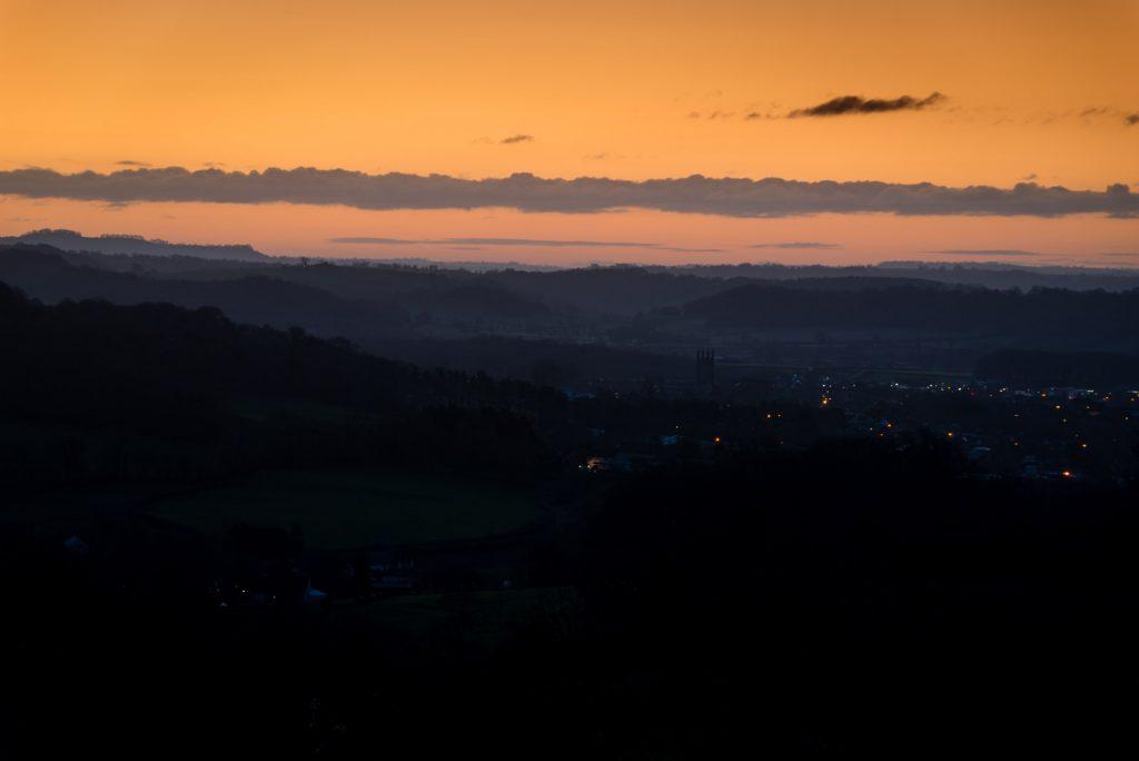 Sunrise over Wells - Somerset, UK. ID 824_2836