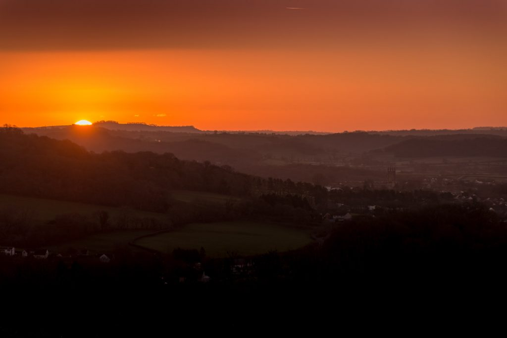 Sunrise over Wells - Somerset, UK. ID 824_2878