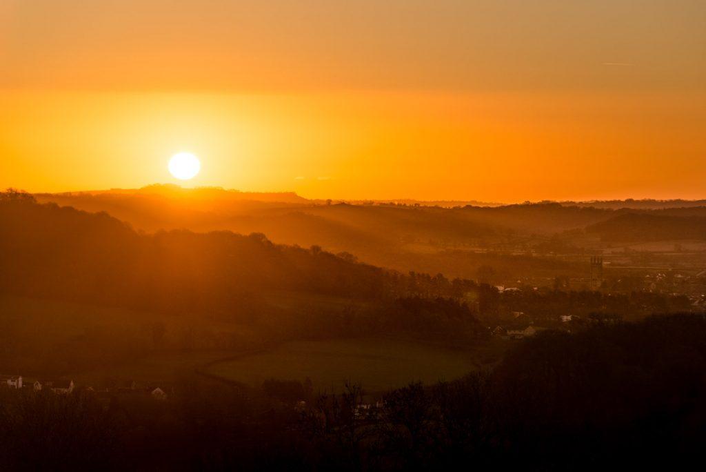 Sunrise over Wells - Somerset, UK. ID 824_2934