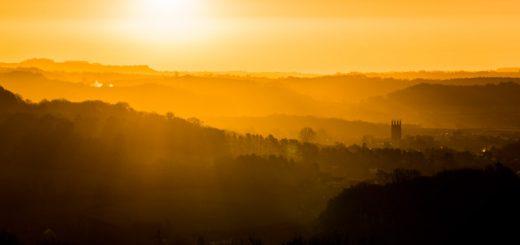 Sunrise over Wells - Somerset, UK. ID 824_3018