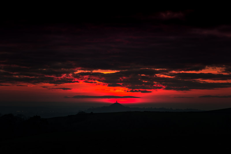 Red Sunset - Nr Croscombe, Somerset, UK. ID 824_6080