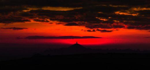 Red Sunset - Nr Croscombe, Somerset, UK. ID 824_6100