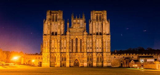 Super Moon over Wells Cathedral - Somerset, UK. ID 824_8321
