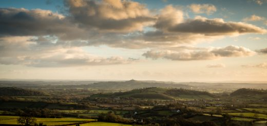 Glastonbury Tor and Axe Valley - From Deerleap, Wells, Somerset, UK. iD 825_0679