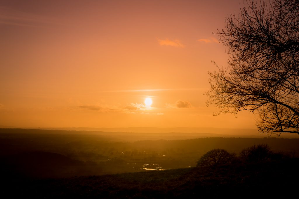 Sunset from Deerleap - Near Wells, Somerset, UK. ID 825_0744