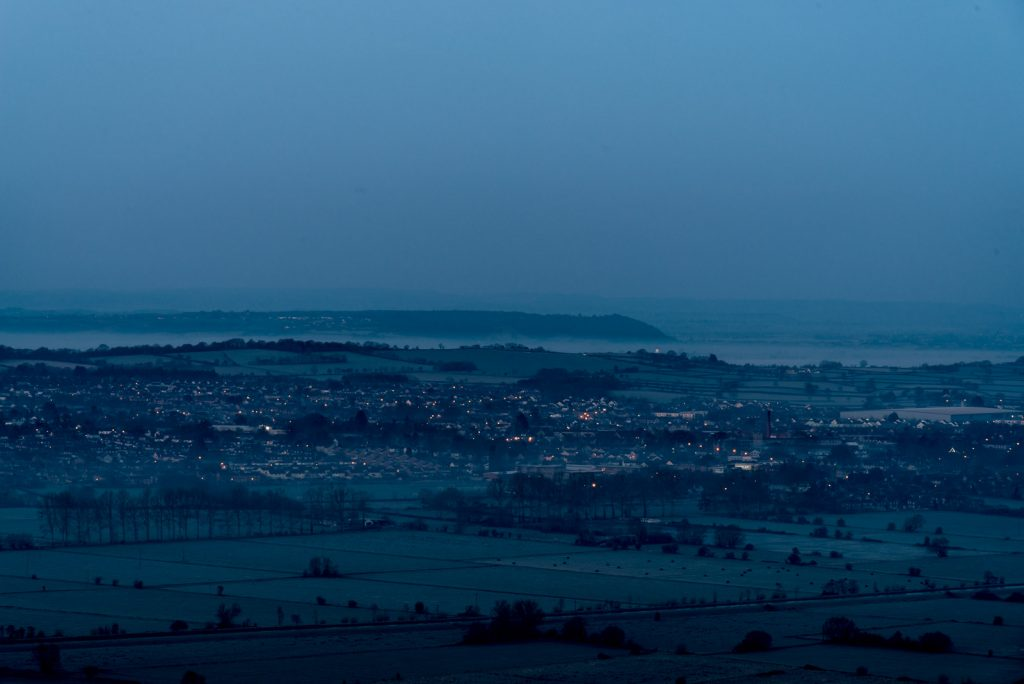 Street - From Glastonbury Tor, Somerset, UK. ID 825_7279