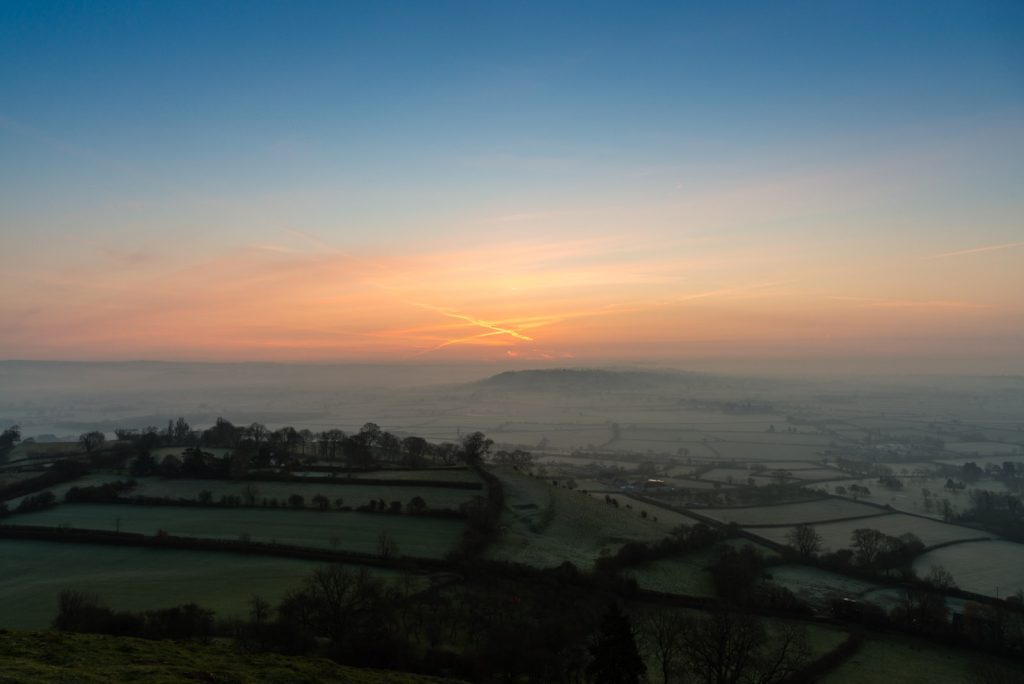 Spring Equinox Sunrise - From Glastonbury Tor, Somerset, UK. ID 825_7310
