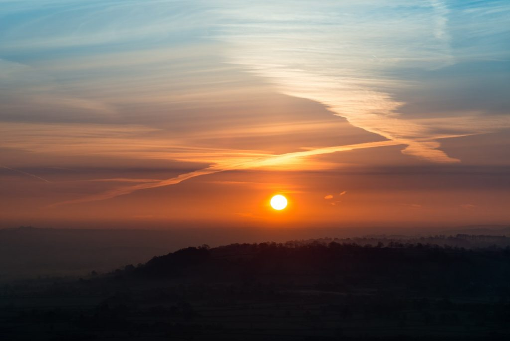 Spring Equinox Sunrise - From Glastonbury Tor, Somerset, UK. ID 825_7353