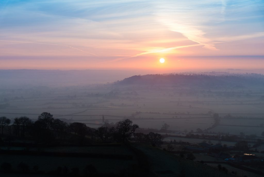 Spring Equinox Sunrise - From Glastonbury Tor, Somerset, UK. ID 825_7355