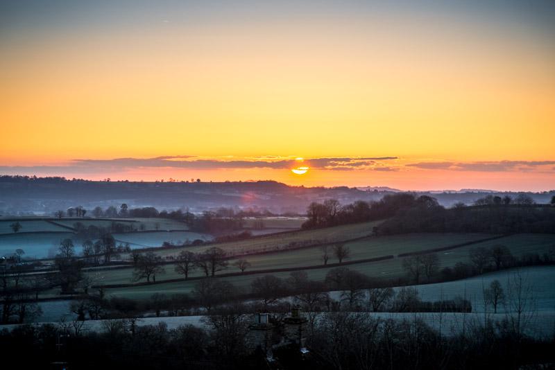 Sunrise - Bratton Seymour, Somerset, UK. ID 825_7858
