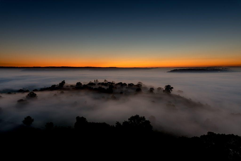 First Autumn Mist - Glastonbury Tor, Somerset, UK. ID 825_8814