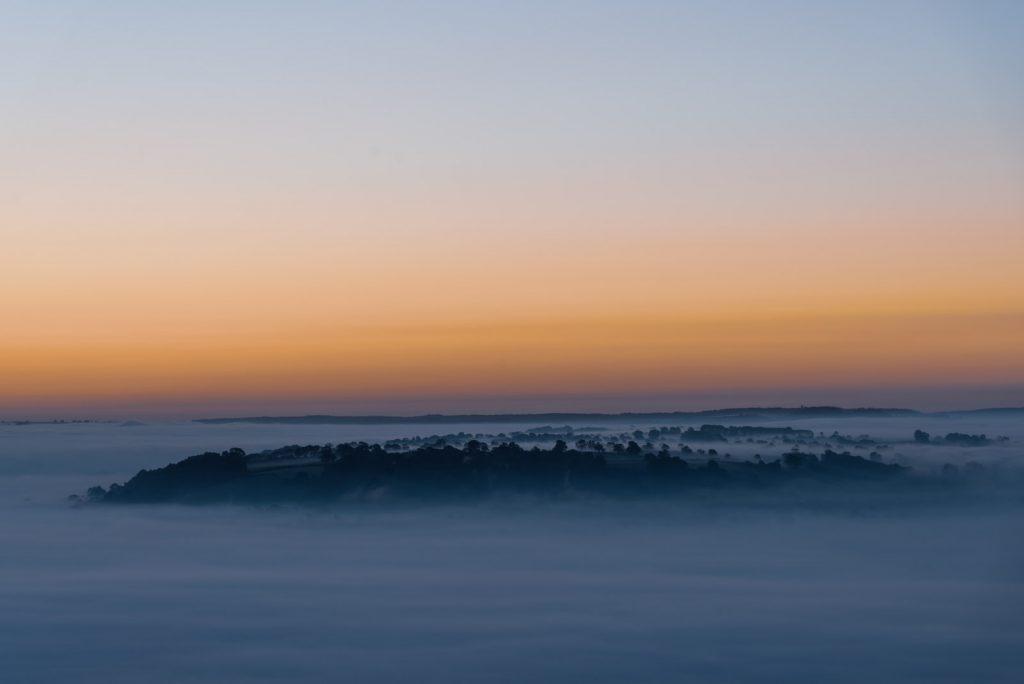 Pennard Island - From Glastonbury Tor, Somerset, UK. ID 825_8886