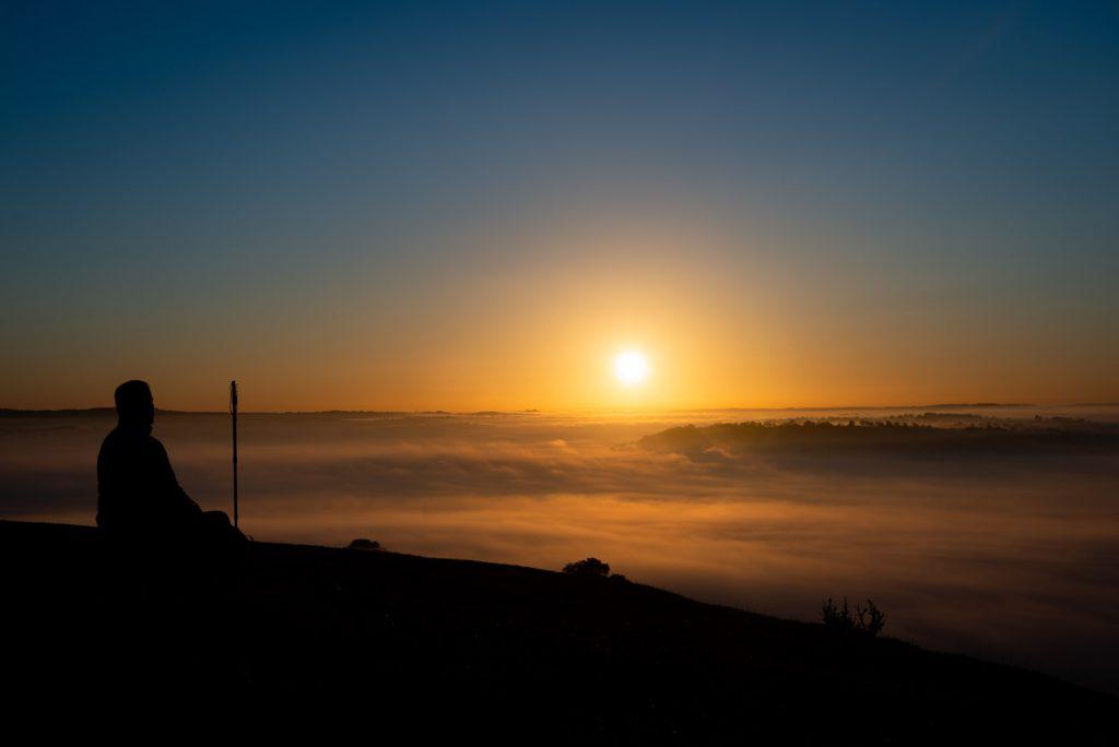 First Autumn Mist - Glastonbury Tor, Somerset, UK. ID 825_9008