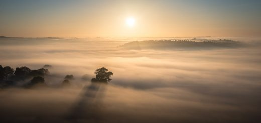 First Autumn Mist - Glastonbury Tor, Somerset, UK. ID 825_9051