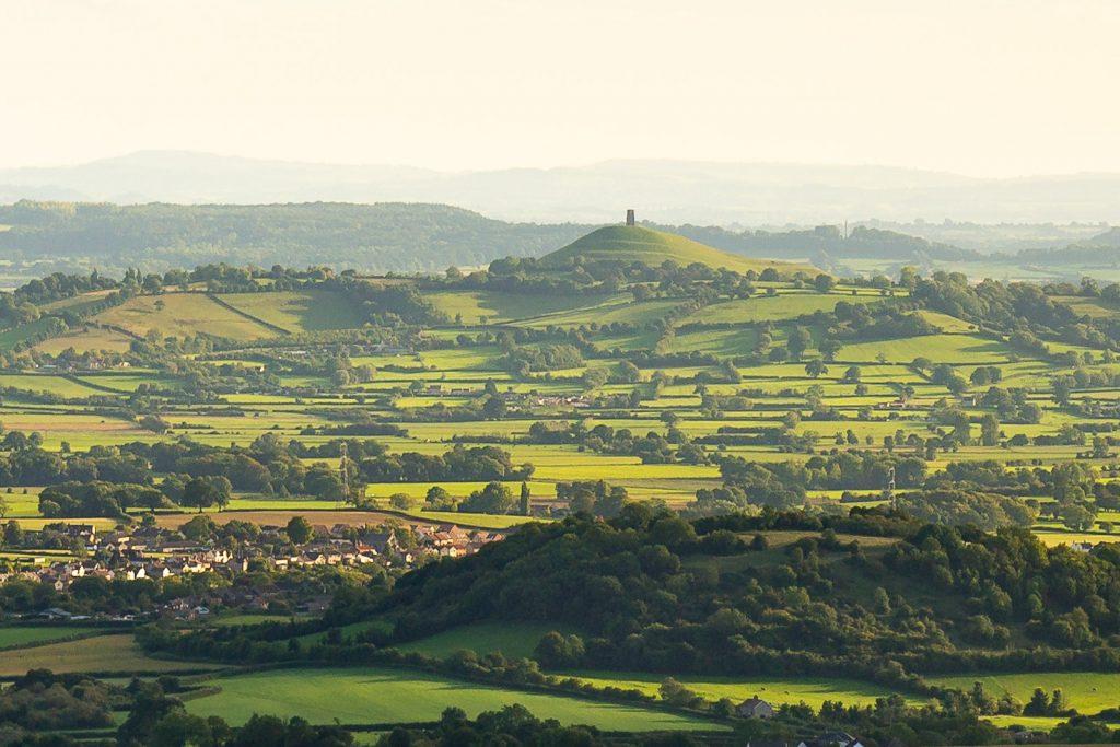Crop from around Glastonbury Tor