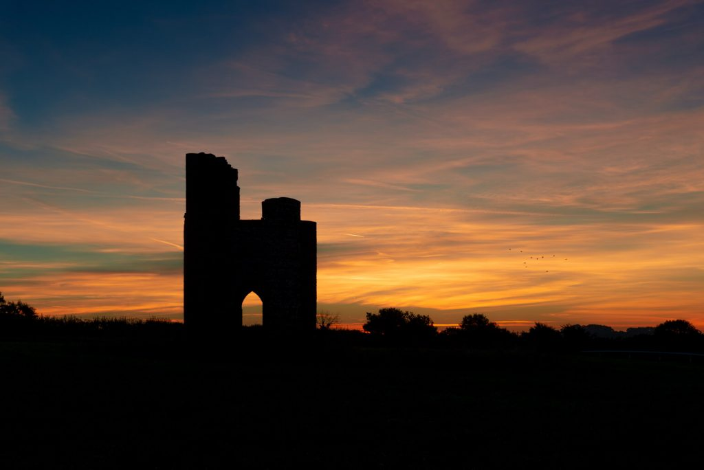 6:54am Dawn at Ditcheat Folly - Ditcheat Hill, Somerset, UK. ID 826_0080