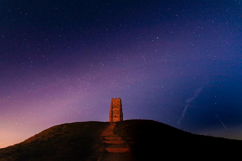 Glastonbury Tor at Night - Somerset, UK. ID 927_9246