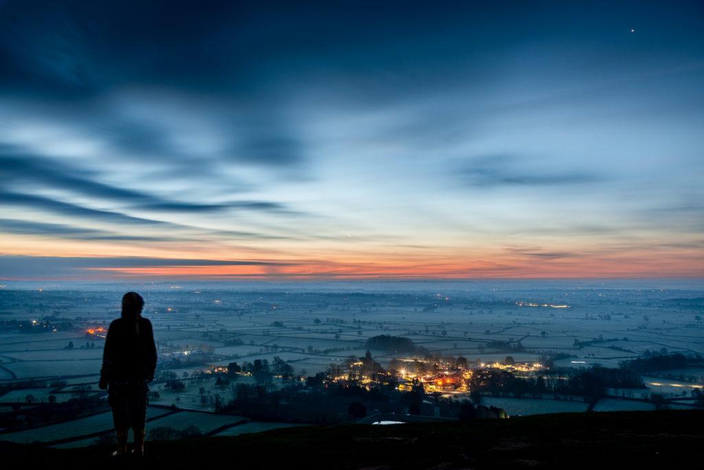 Dawn from Glastonbury Tor - Somerset, UK. ID 827_9263