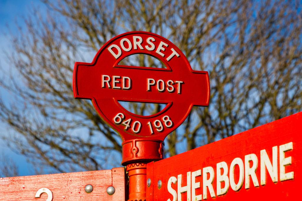 Red Post - Corton Denham, Somerset, UK. ID IMG_4358