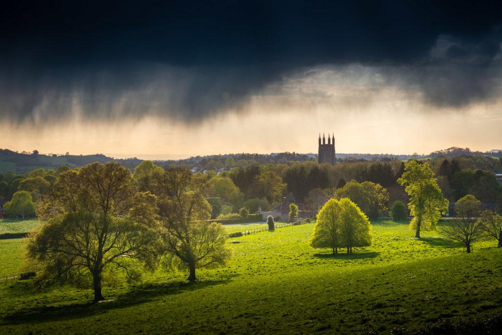 April Shower - St Cuthberts, Wells, Somerset, UK. ID 810_8400