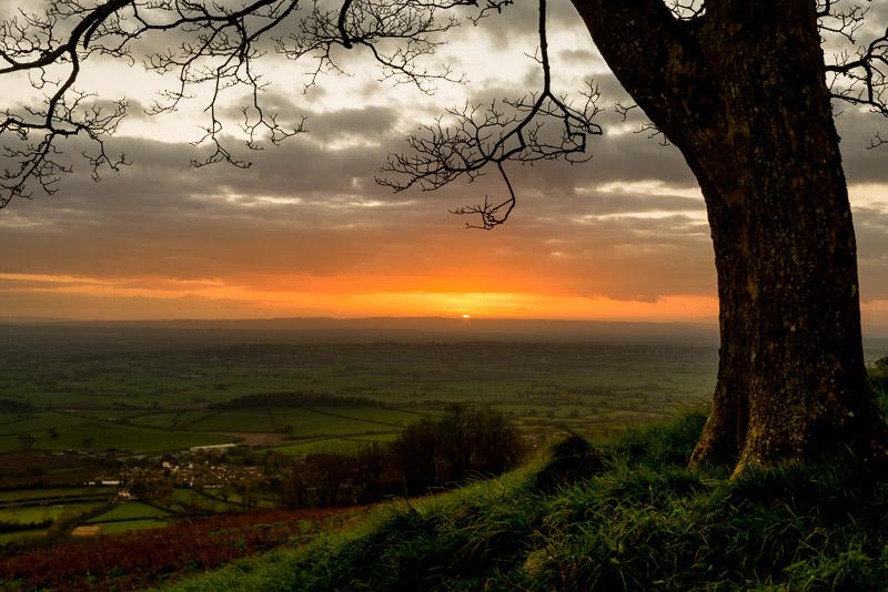 Lynchcombe Sunset - Mendip Hills, Somerset, UK. ID 823_6491