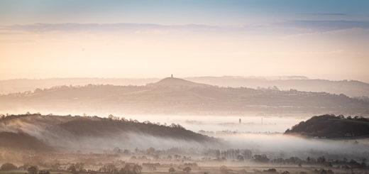 Glastonbury Tor - From the Mendip Hills, Somerset, UK. ID JB1_4355