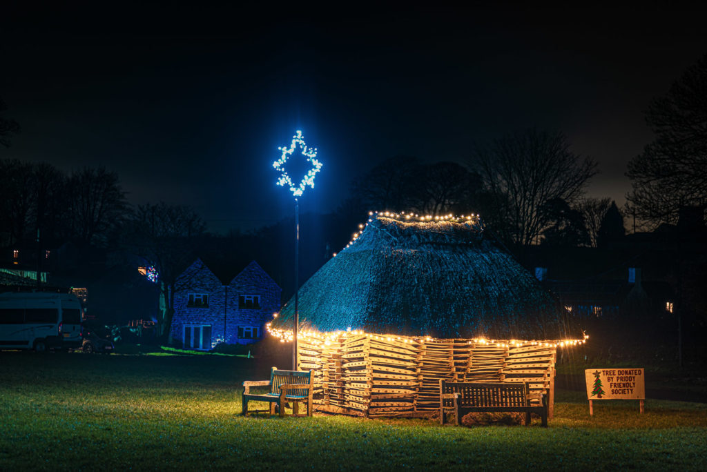 Priddy Green at Christmas - Mendip Hills, Somerset, UK. ID JB1_0636