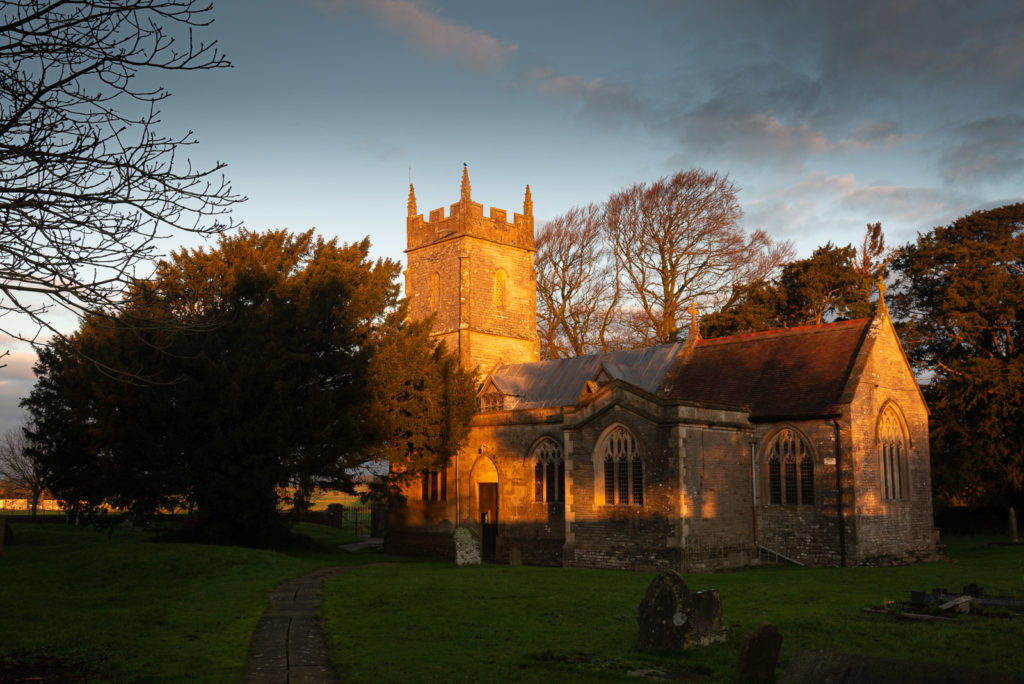 Church of St Mary The Virgin at Dawn - Ston Easton, Somerset, UK. ID JB1_1461