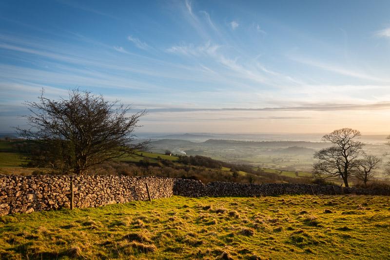 Winter Evening - Deerleap, Mendip Hills, Somerset, UK. ID JB1_3073
