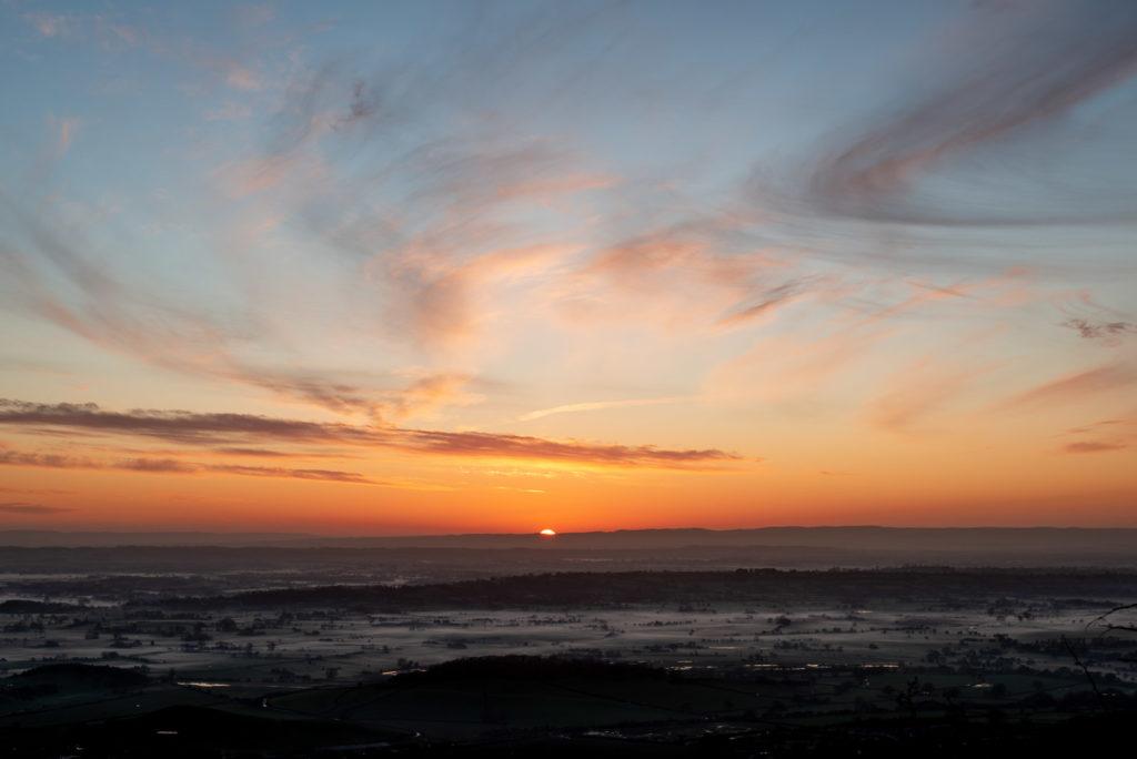 Axe Valley Sunset - From Cooks Fields, Mendip Hills, Somerset, UK. ID JB1_3239