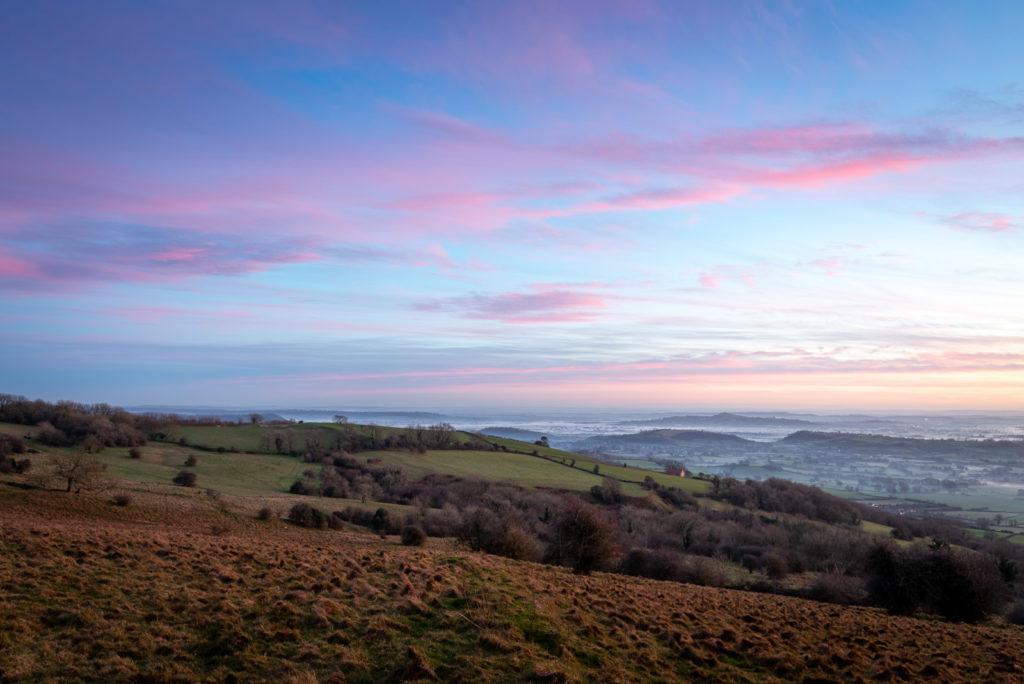 Deerleap Sunset - Mendip Hills, Somerset, UK. ID JB1_3330H